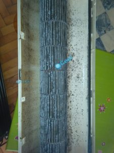 Naslage prljavstine na turbini